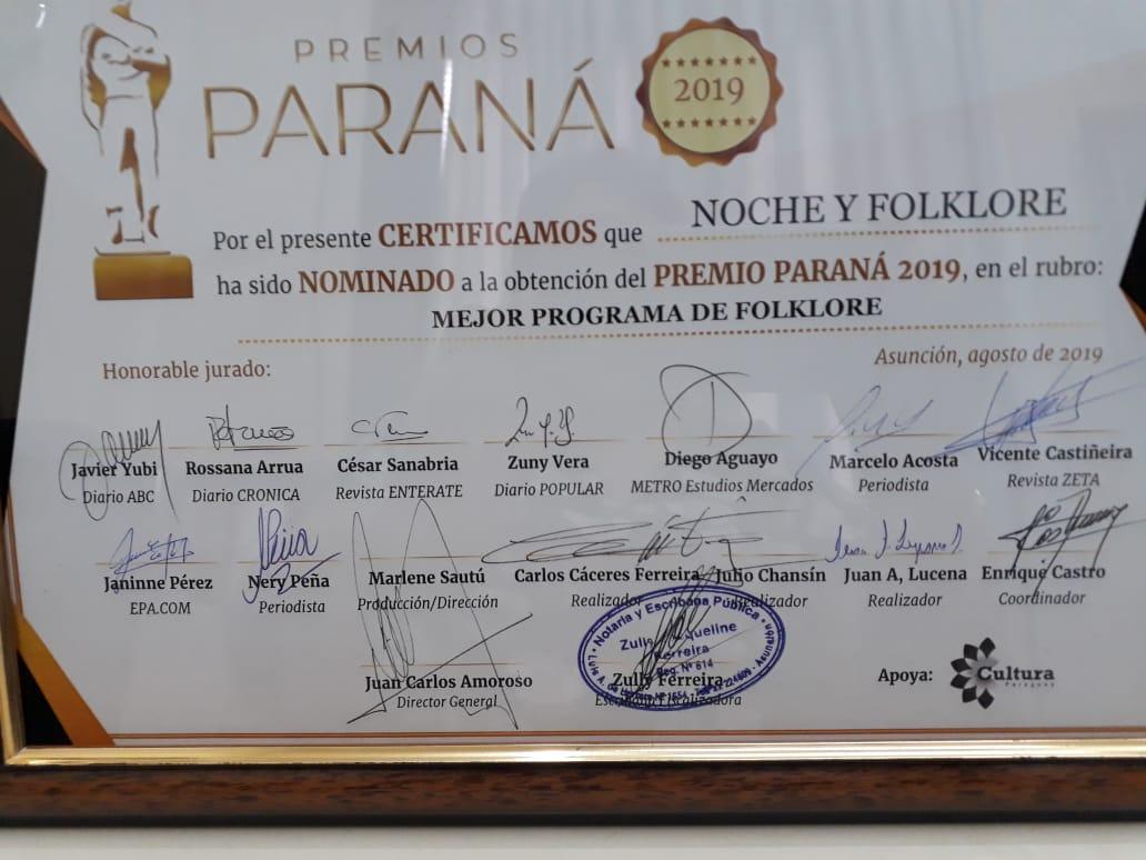 Premios Parana 2019