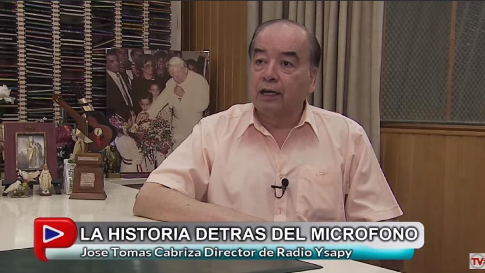 Dr. José Tomás Cabriza, en el programa «Tu Historia» en Paraguay TV